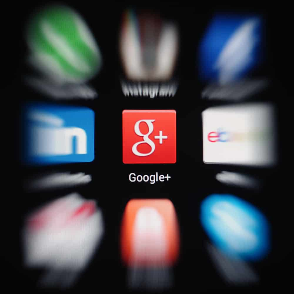 Google+ icon on mobile phone