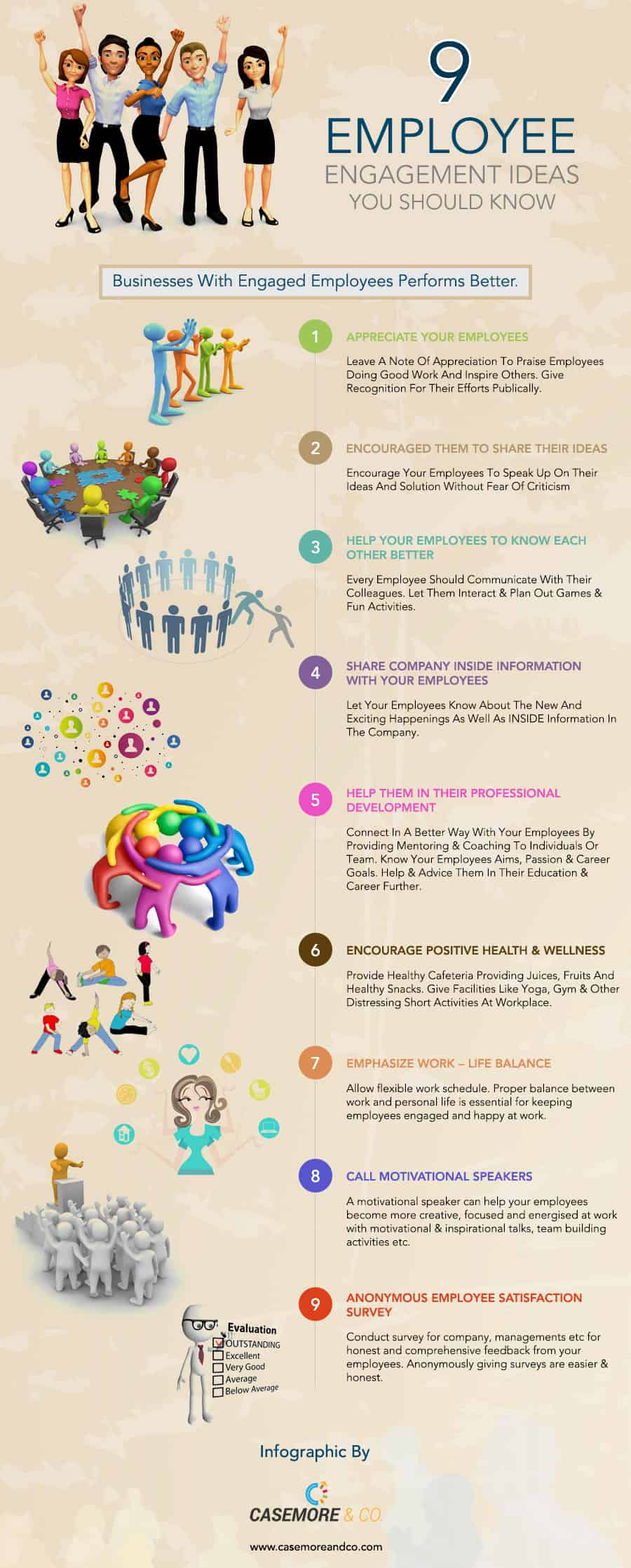 9 Tips to Boost Employee Engagement – An Infographic