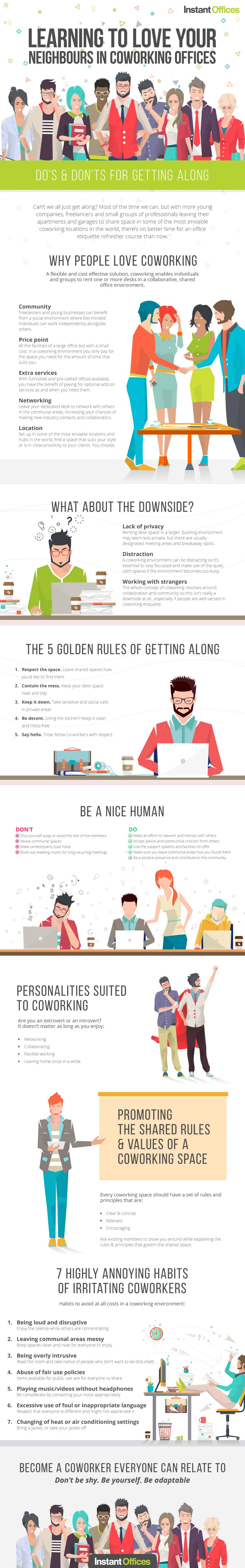 Learning to Love Your Neighbours in Co-working Offices – An Infographic
