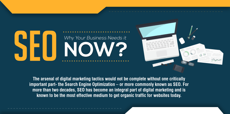 SEO why your business needs it now - infographic