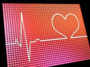 Heart Rate Display Monitor Shows Cardiac And Coronary Health