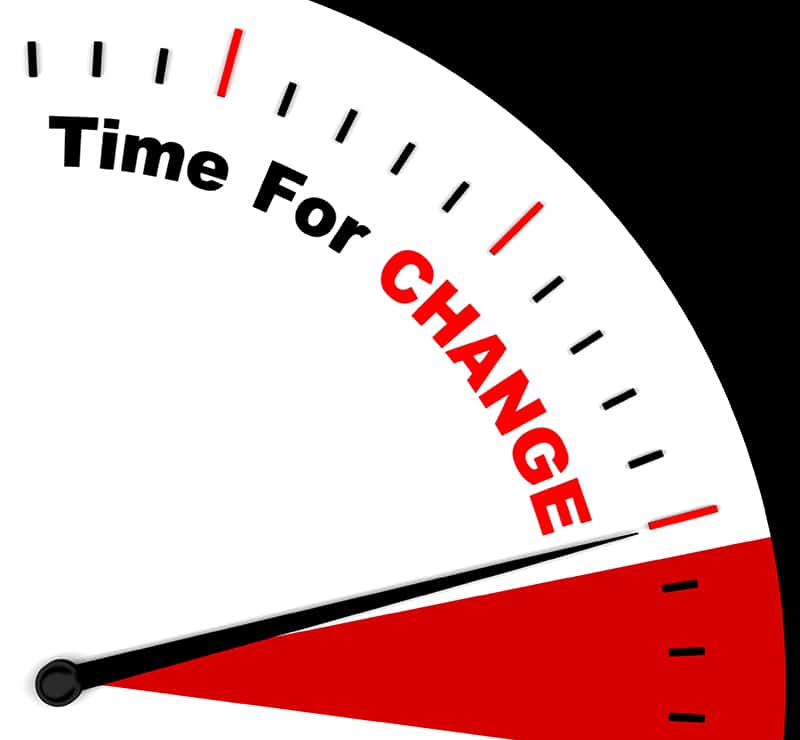 Time For Change Represents Different Strategy Or Varying
