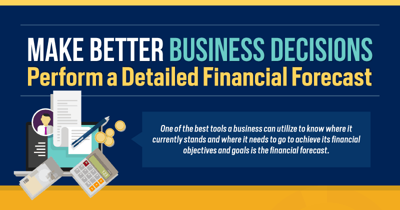 Illustration showing how to Make Better Business Decisions - Perform a Detailed Financial Forecast