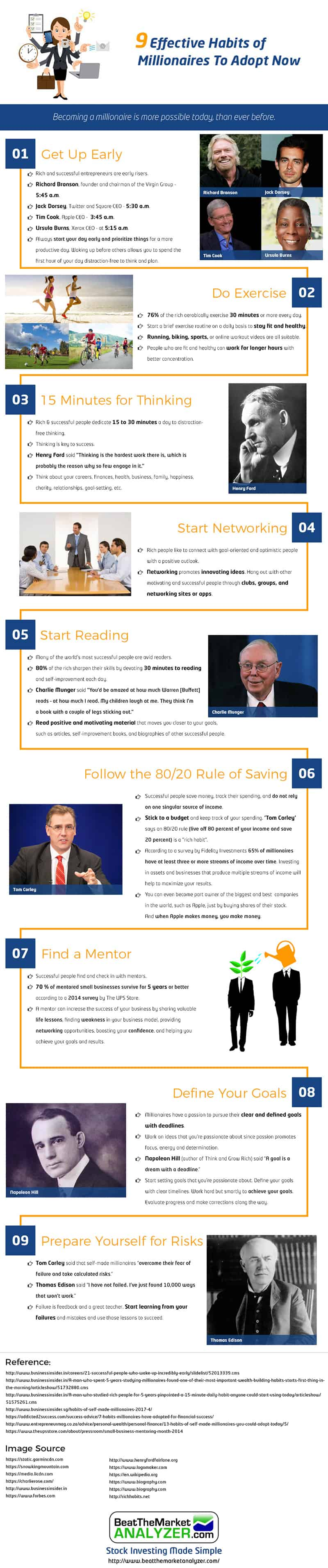 9 Effective Habits of Millionaires You Need to Adopt – Infographic