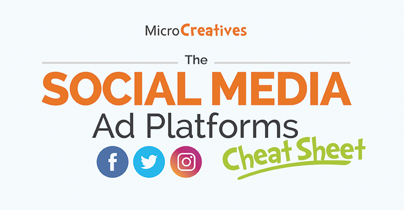 The Social Media Ad Platforms Cheat Sheet – Infographic