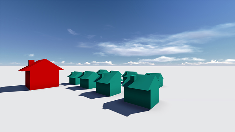When to Buy or Lease Commercial Real Estate for Your New Business - Real Estate Concept made in 3d software