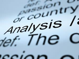 Analysis Definition Closeup Shows Probing Study Or Examining
