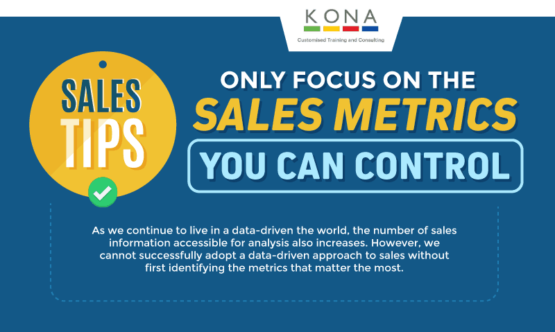 Sales Tips: Only Focus on The Sales Metrics You Can Control (Infographic)