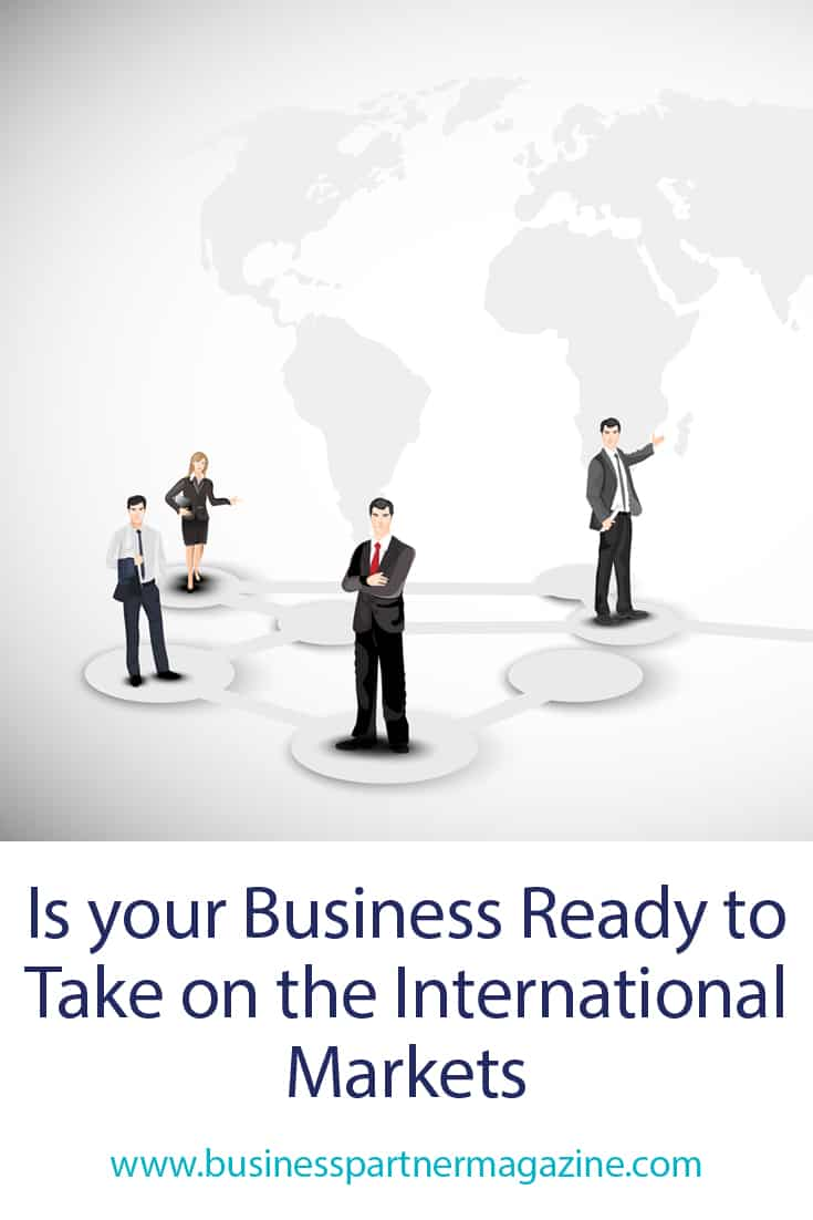 Is your business ready to take on the international markets Abstract business background