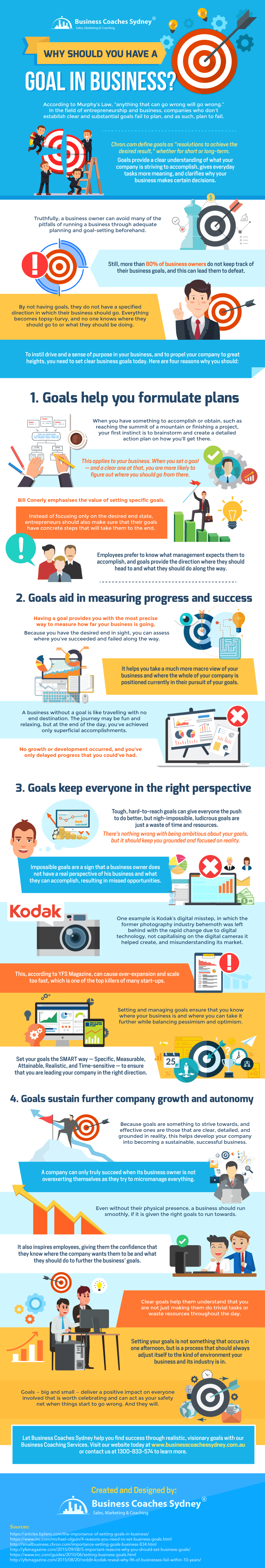 Why Should You Have A Goal in Business infographic