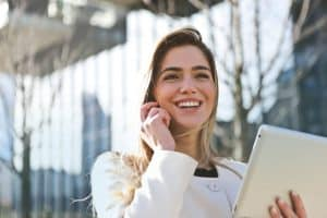 Young woman on mobile phone Carving Out Your Own Career Path