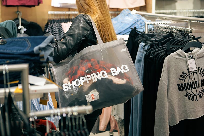 shopping fashion purchasing bag