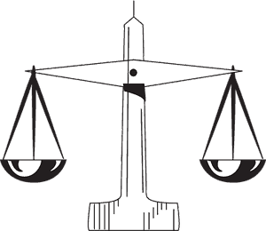 law scales judgement litigation