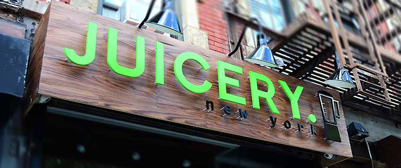 Signage Juicery New York