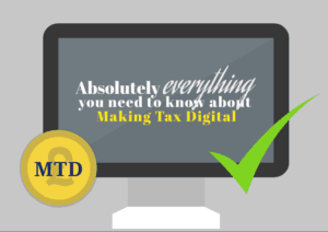 vector image laptop screen Making tax digital
