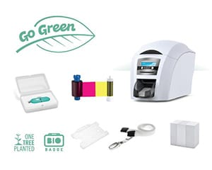 Magicard 300 printer and biodegradable plastic id card holders - How to  Start an Eco Friendly Photo ID Card System
