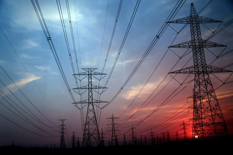 electricity pylon electrical grid