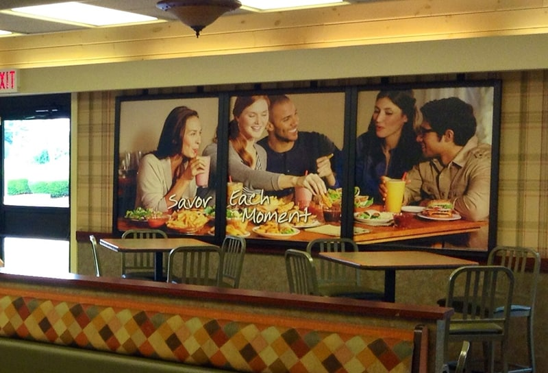 signage in burger king