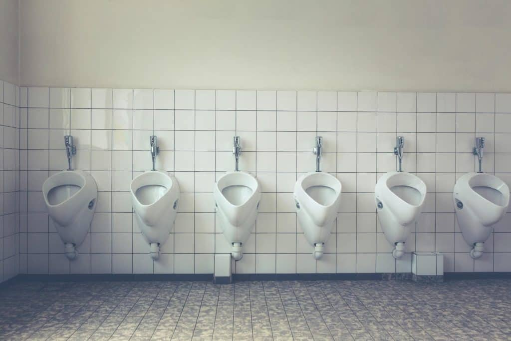 white ceramic male toilets - important places to clean