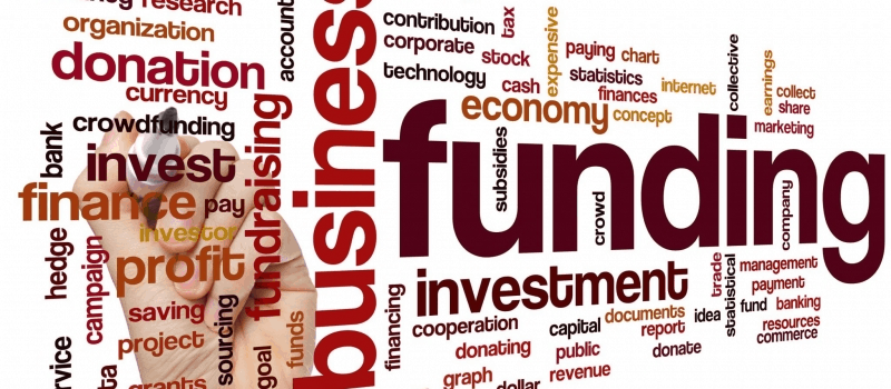 Funding, investment fundraising, loan, word cloud