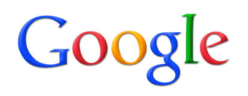 Google logo on white background