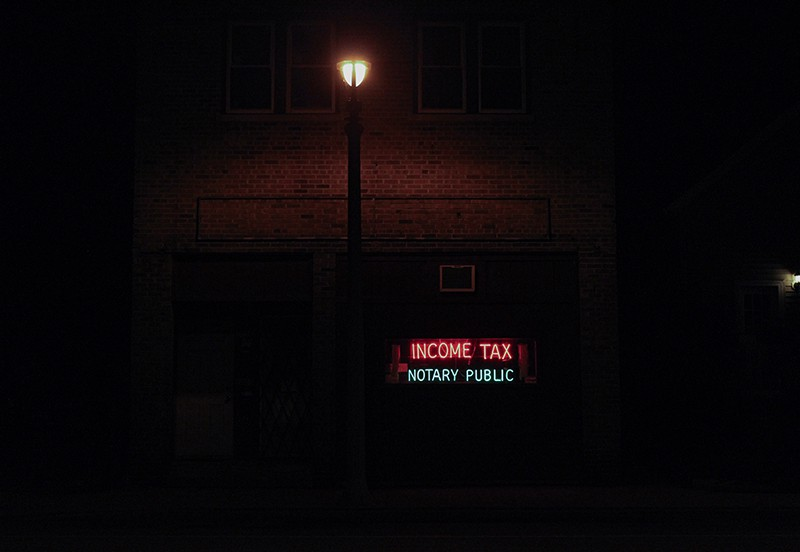 Neon signs - notarry public income tax