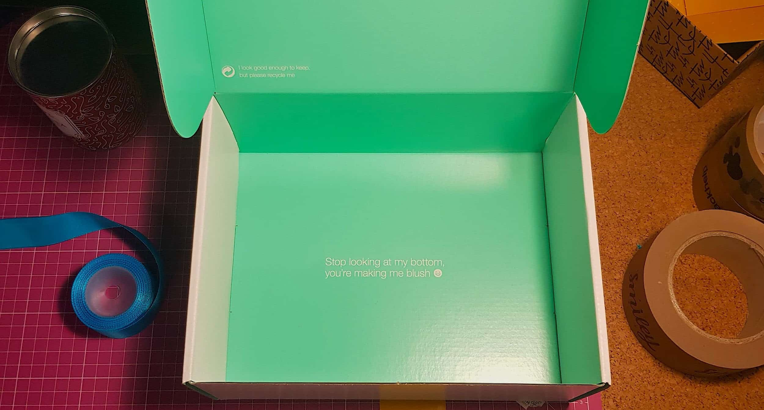 Green packing box for small business