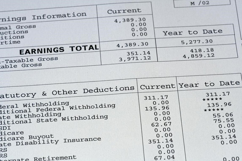 Benefit Deductions on an Employee Pay Statement