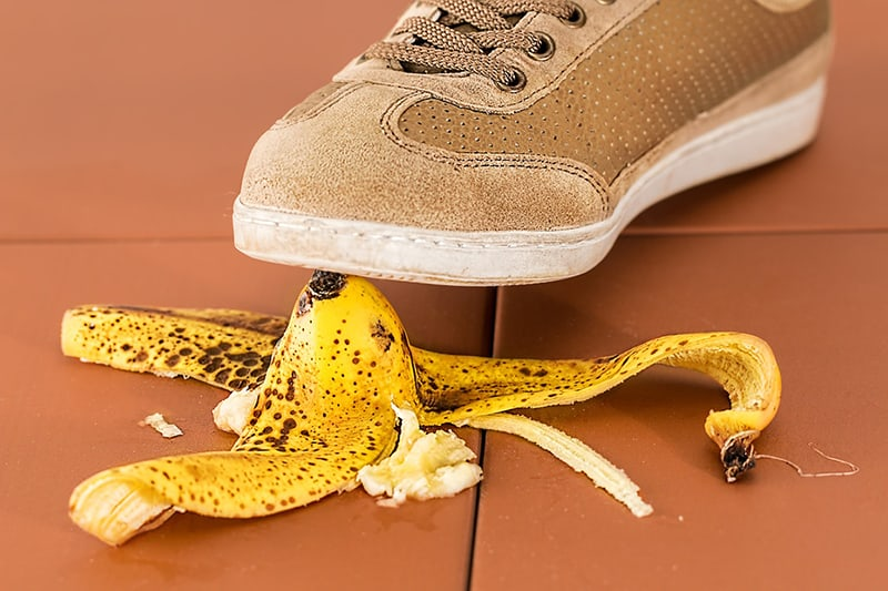 Slip hazard banana skin - Why important for business to be insured