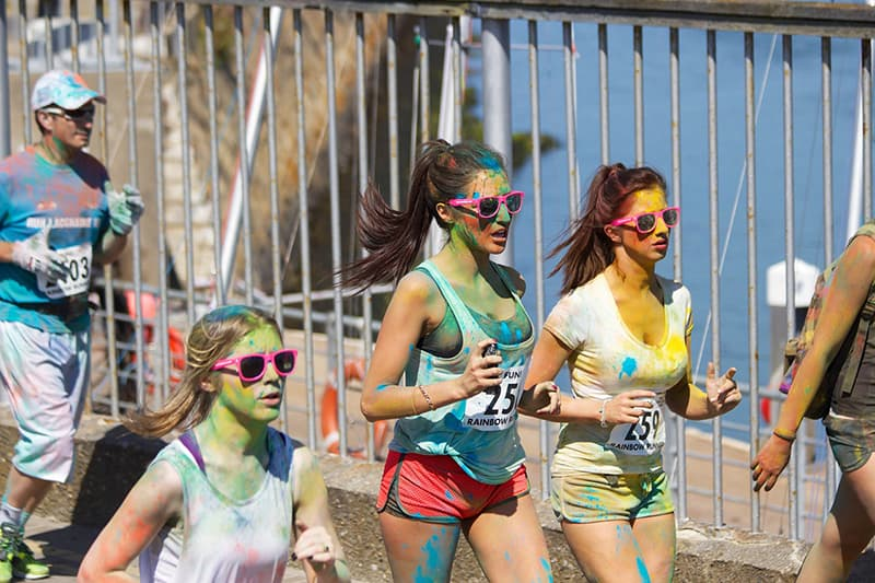 rainbow colour run to raise money for charity