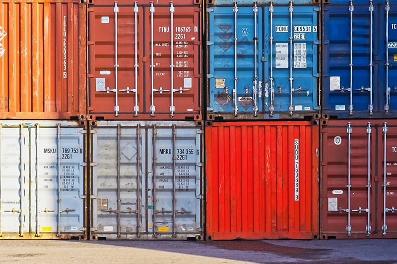 Containers at container port - port cargo