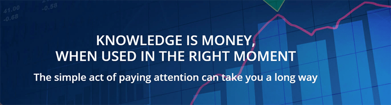 Statement - Knowledge is money, when used in the right moment.