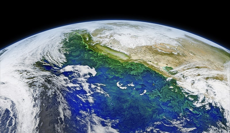 Satellite image of Earth- save environment
