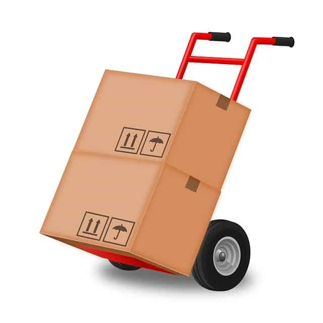 hand truck - hand trolley for use when moving office boxes
