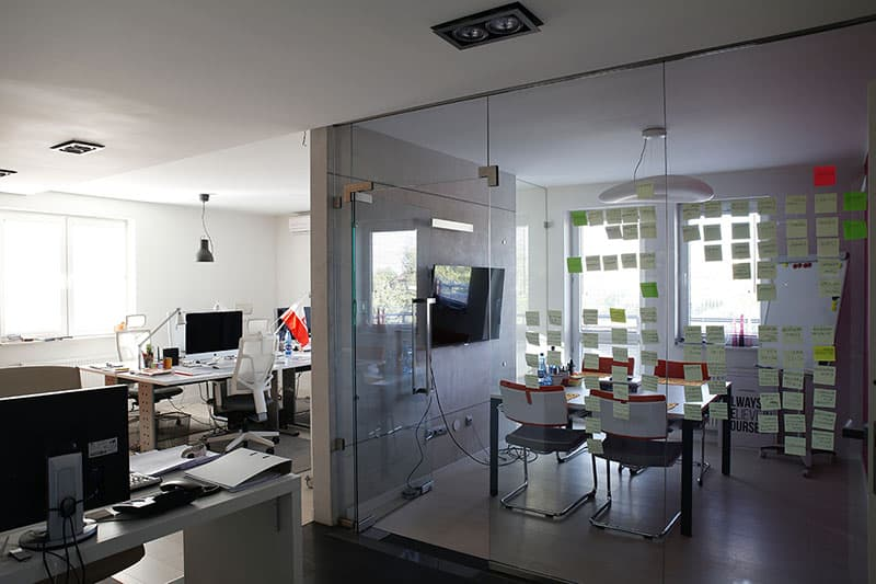 Office design - chairs and desk in office