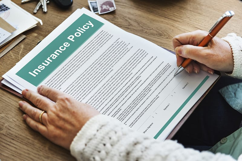 person completing application for insurance policy