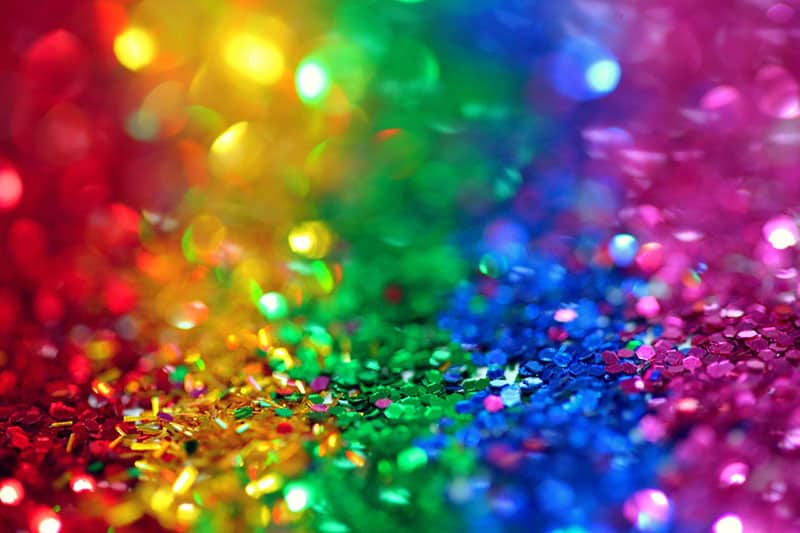 Assorted rainbow coloured sequins