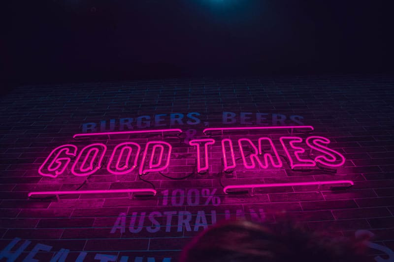building signage - good times made in Australia