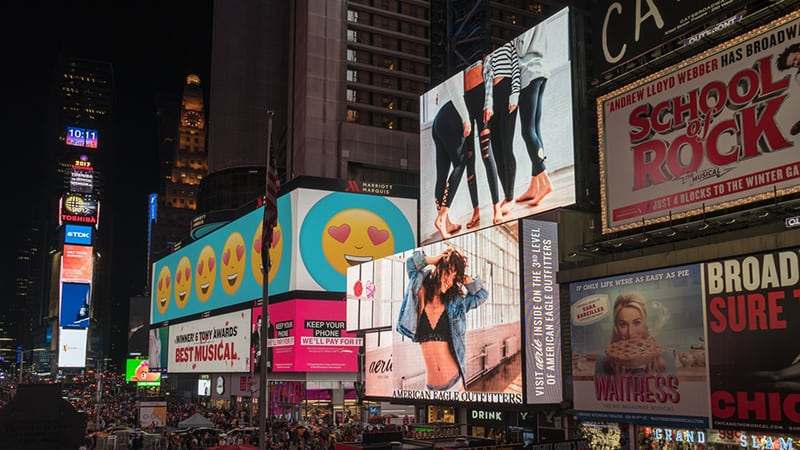 advertisements architecture billboards Broadway