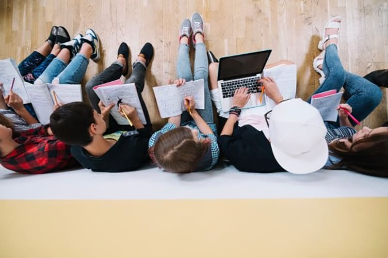 Freelancers working in a co-working space