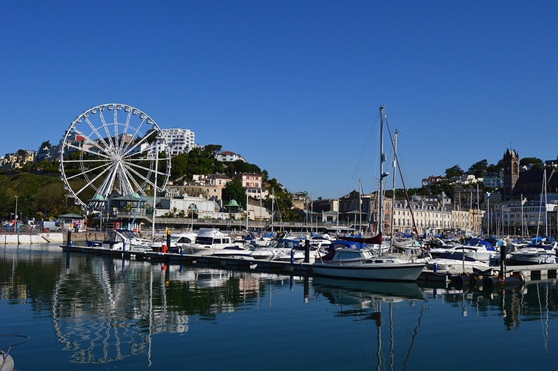 Torquay harbour – port – Devon – English Riviera – UK holiday resort