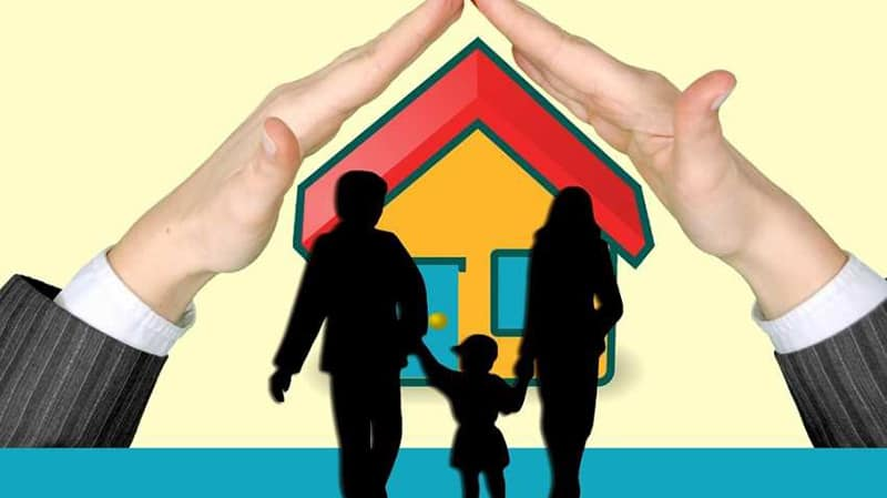 Life insurance offering protection fro family and home