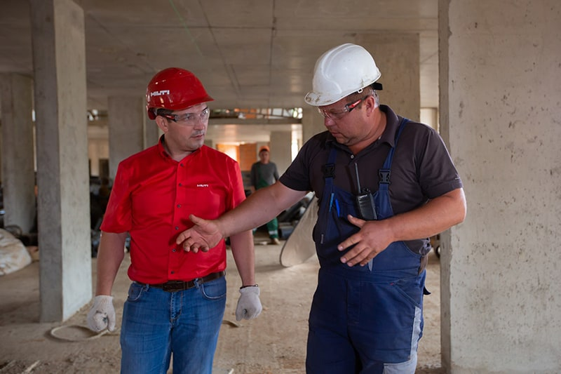 workers on a construction site – building inspection