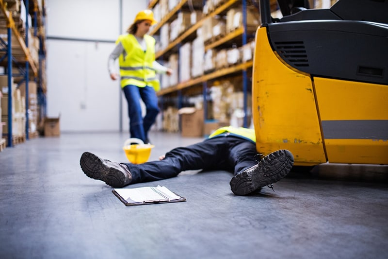 Employee accident in the workplace