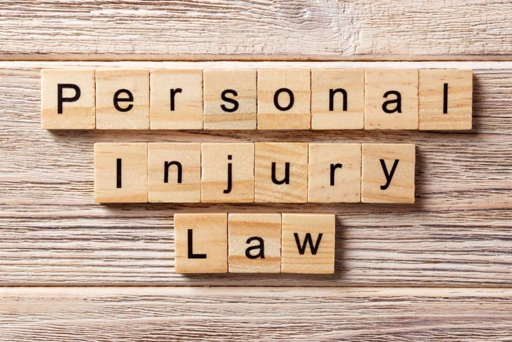Personal Injury Law words scrabble