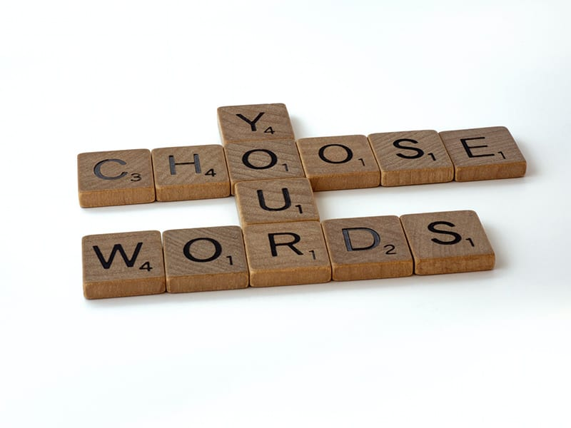 letter tiles spelling - choose your words