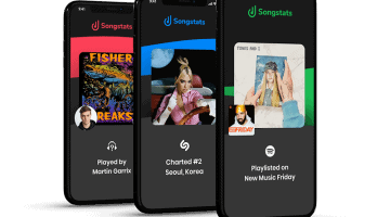 Songstats is a mobile-first data solution that delivers important insights in real time