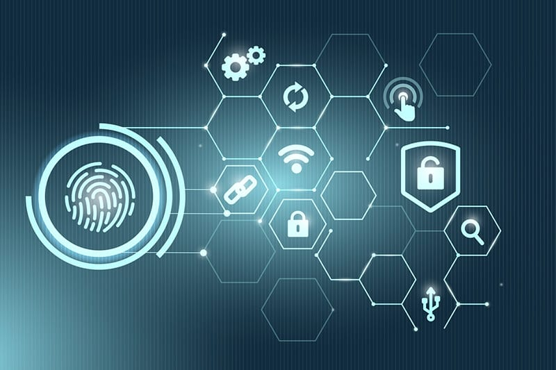 data security - biometric security concept