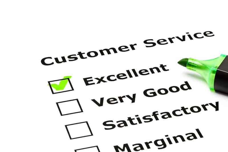 customer service customer rating  of excellent and green highlighter pen