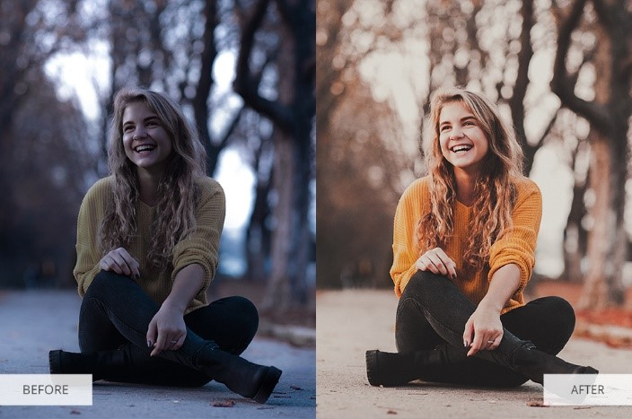 Chocolate Effect Lightroom Presets for Portraits-Before and After